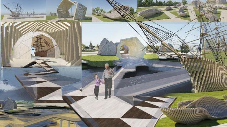 Дизайн-проект благоустройства набережной в Адмиралтейской слободе, г. Казань