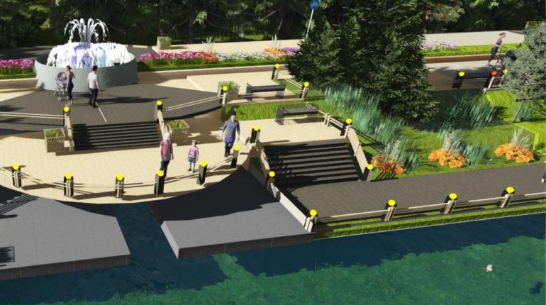 Учебный проект по террасированию участка берега на территории озера «Здоровья» города Набережные Челны